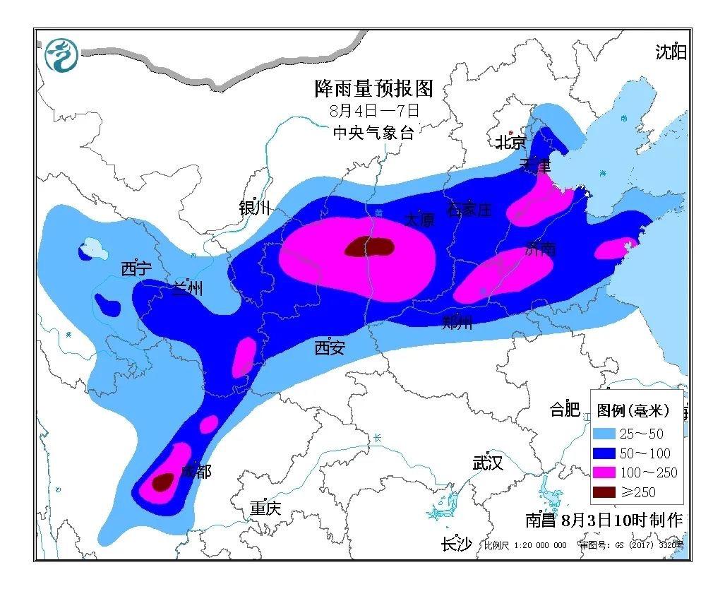 未来四天北方多降雨,河北天津等地局地大暴雨图片