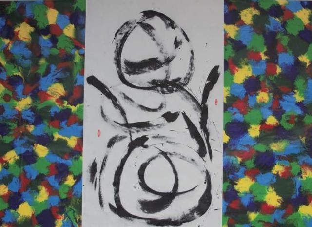 用艺术与生命对话!生命然象画派创始人景在平举办画展