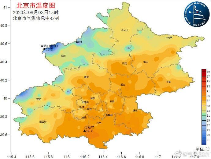 北京局地达40℃,今日气温或破纪录图片