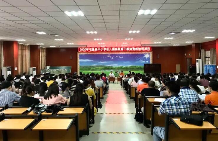 海南中学校长马向阳、省教育厅处长陈振华到屯昌讲学