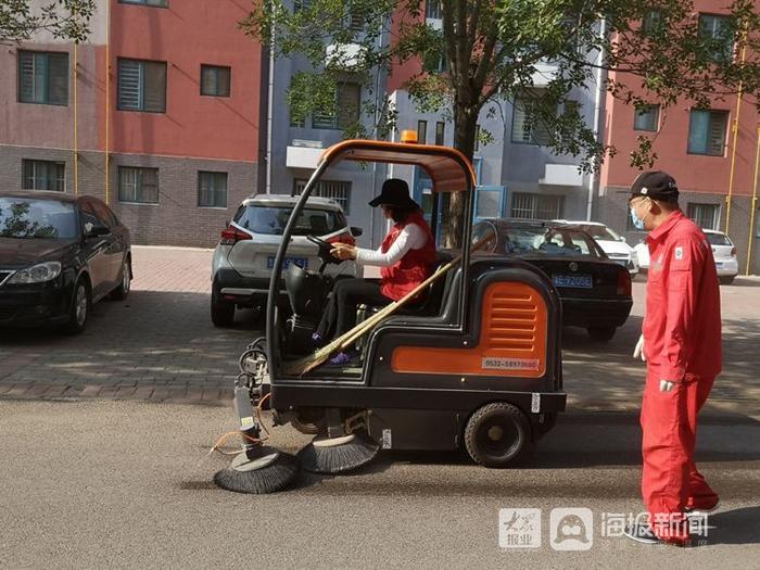 """亮化人居环境 东营区黄河路街道聚园社区""""三抓""""创城进度"""