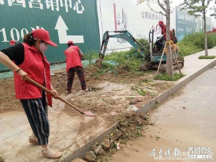 菏泽丹阳街道开展创建全国文明城市志愿者服务活动