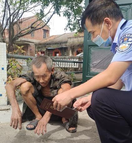 独居老人因无户口无法申请低保三水民警三次登门为其办理