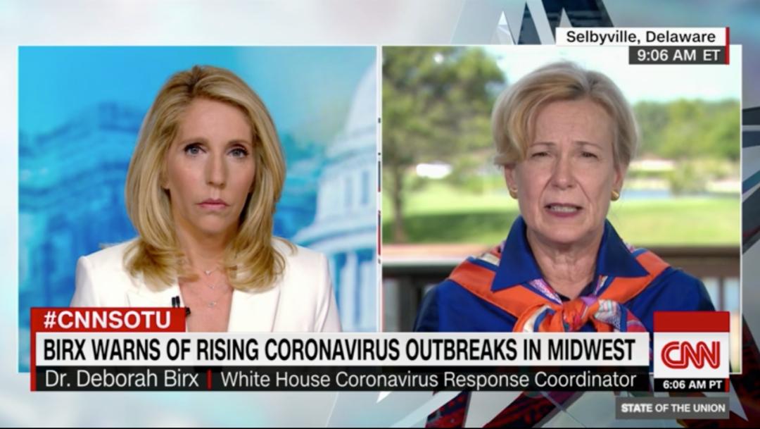 伯克斯(右)参加CNN节目。