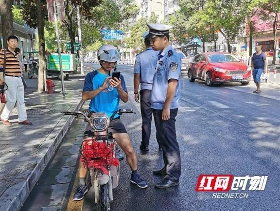 吉首交警常态化开展周末摩托车专项整治行动