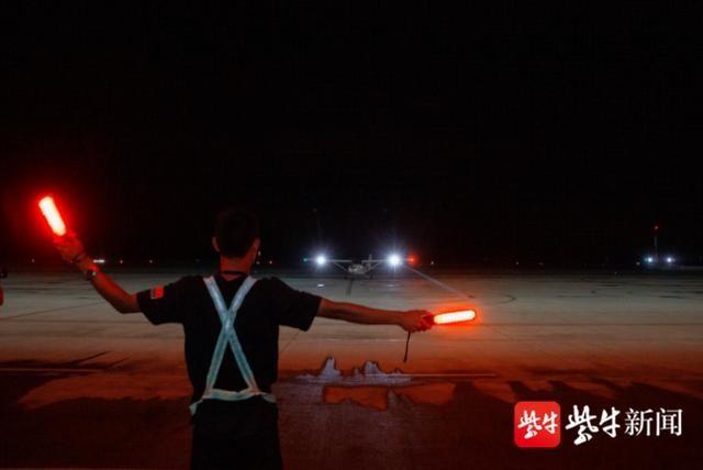 江苏省内第一家,射阳通用机场首次组织夜航飞行