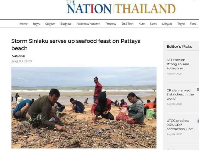 泰国《民族报》网站截图。