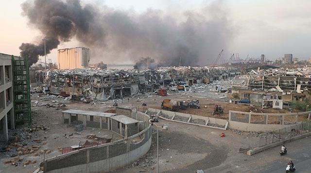 黎巴嫩经济危机又遭遇地震级爆炸 专家:或引发新危机
