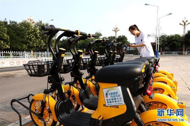 河北涿鹿:投放共享电动自行车 倡导绿色出行
