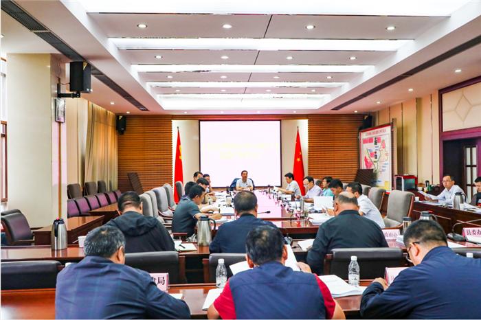 曹金明主持召开玉龙县扫黑除恶专项斗争领导小组2020年第6次会议