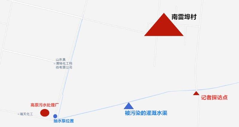 东营一灌溉水渠发黑发臭!村民质疑是附近污水处理厂直排污水