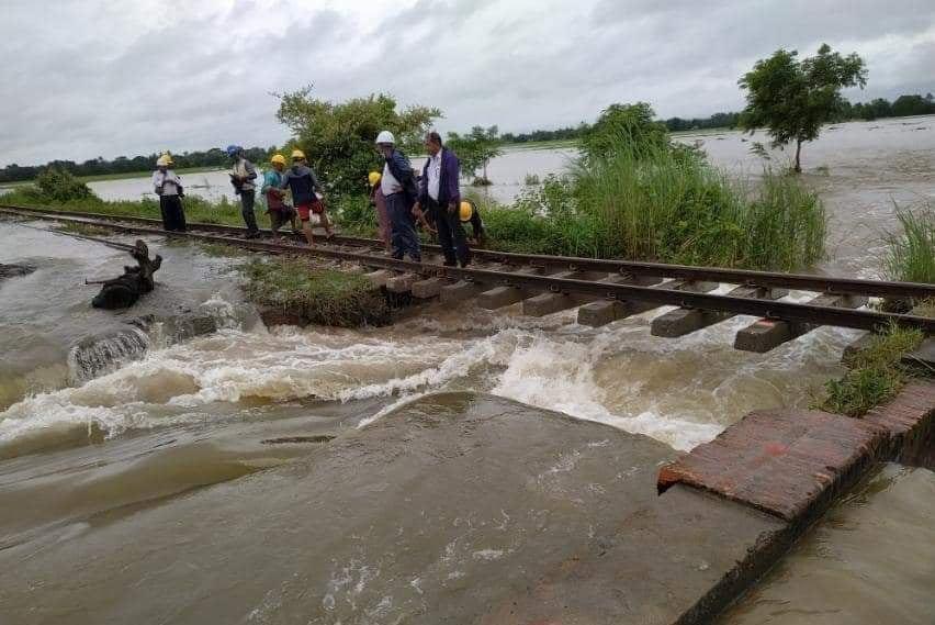 缅甸八省邦遭遇水灾 仰光曼德勒铁路中断