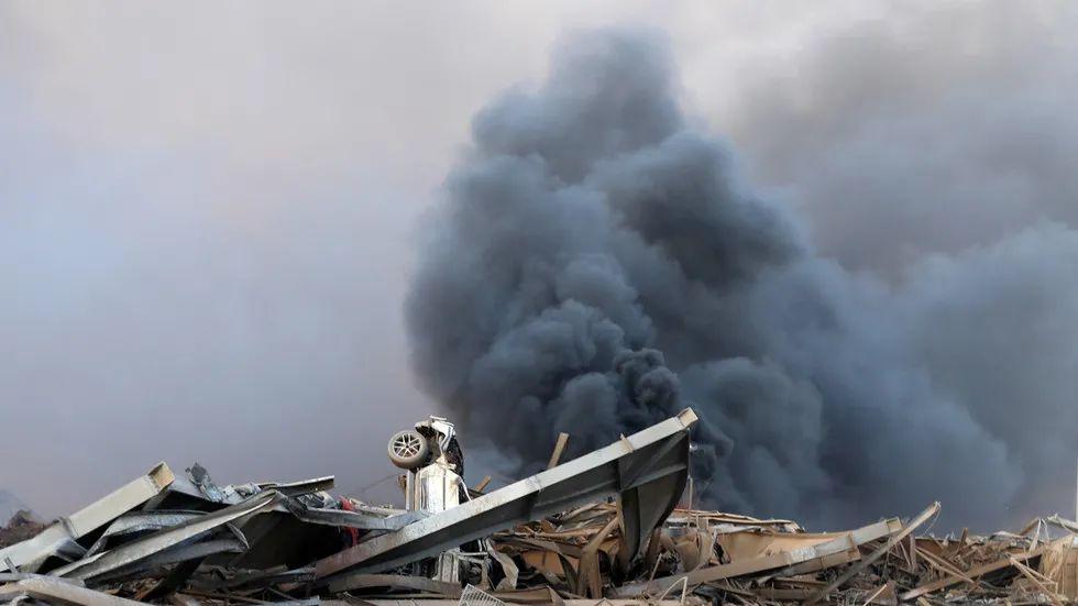 爆炸之后现场狼藉一片。(图源:俄罗斯卫星网)
