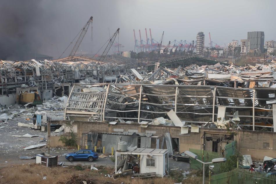 黎巴嫩首都爆炸已致78死 或因库存六年的硝酸铵引发