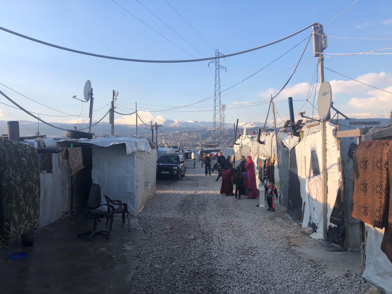 黎巴嫩贝卡谷地的叙利亚难民营。 澎湃新闻记者 喻晓璇 图