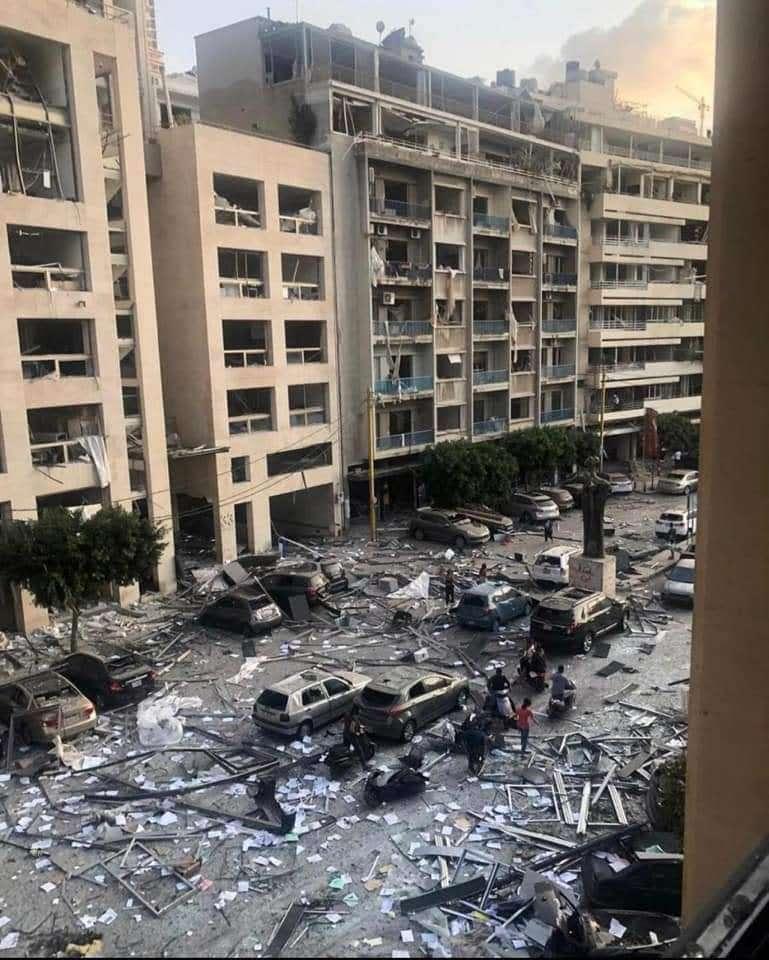 爆炸后的场景。Wael供图