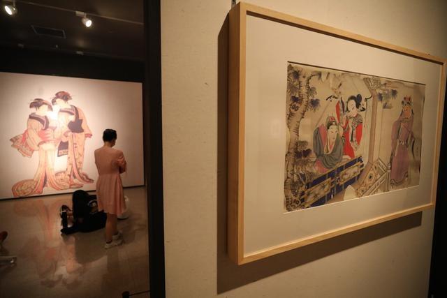 中国美术馆藏日本浮世绘经典集体展出!一同露面的还有清代木版年画精品