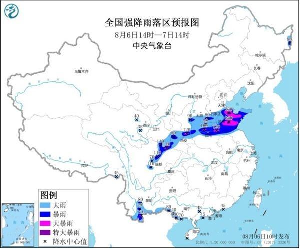 暴雨黄色预警继续!河南山东四川盆地等地部分地区有大暴雨