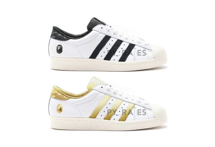 原汁原味街头气质!Bape x adidas Superstar 80s 首度曝光!