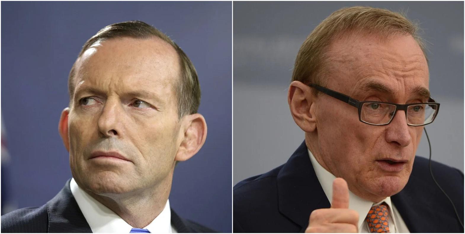 澳大利亚前总理艾伯特(左)与外长卡尔
