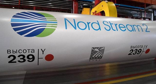 """""""北溪-2""""项目现已完成约94%的海底管道铺设。图源:央视新闻"""