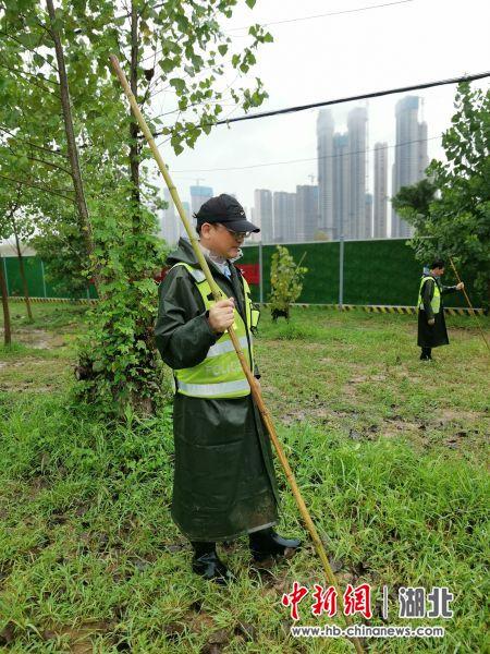 华中农业大学教授长江大堤巡查值守群像