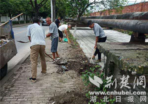 高新区东风街道车城社区打造干净整洁道路