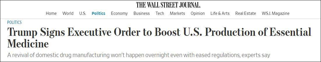 《华尔街日报》截图