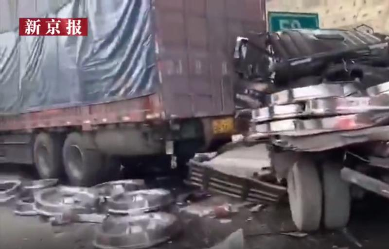 二广高速山西阳曲段14车追尾,已致1人死亡