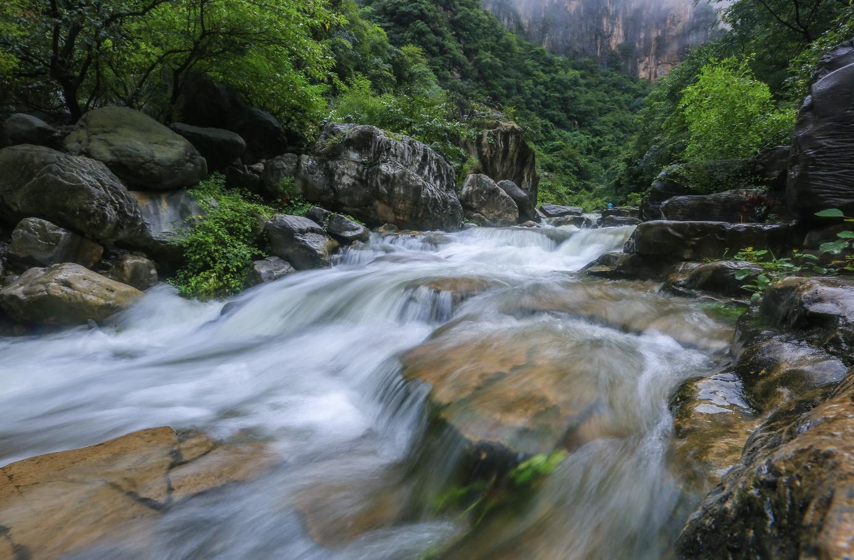 气势磅礴!亚洲单级落差最高的云台山天瀑迎来最大水量