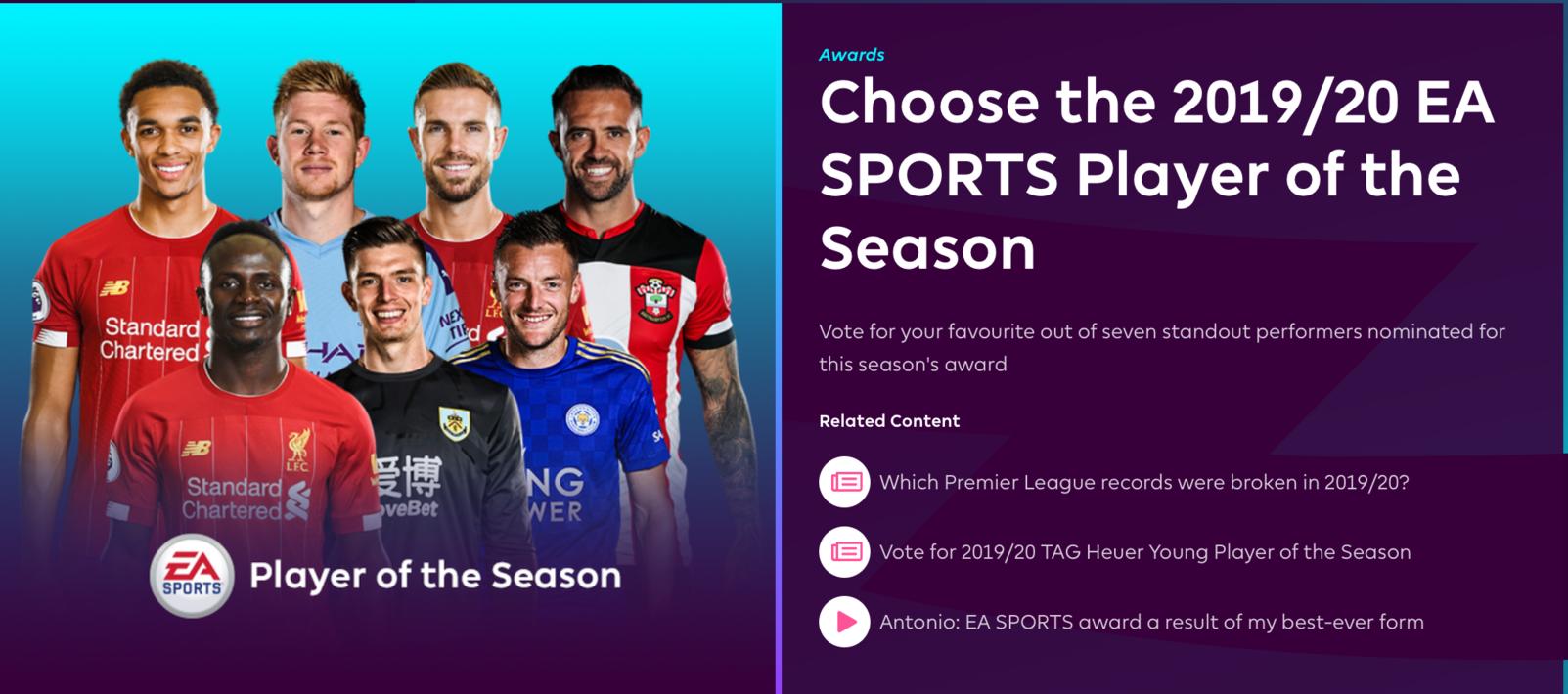 英超最佳球员提名:阿诺德、波普入选,利物浦3人