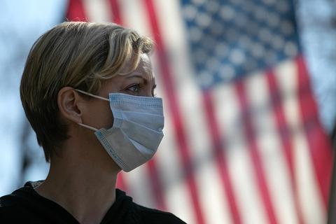 美国累计确诊新冠肺炎病例5084641例。(图源:美联社)