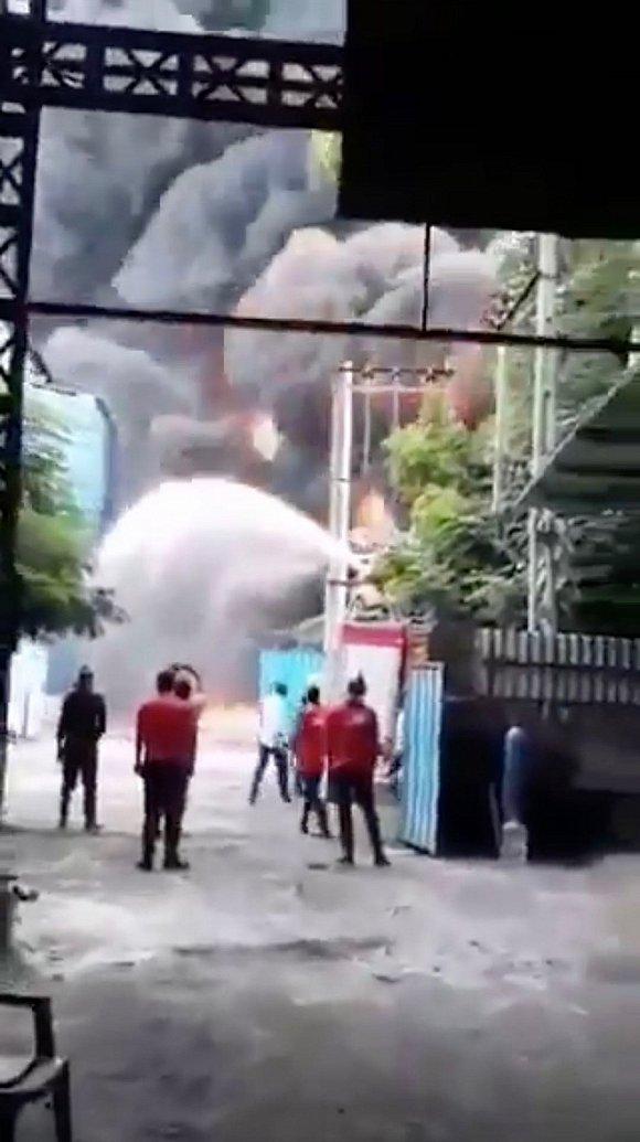 印度一化工厂发生火灾