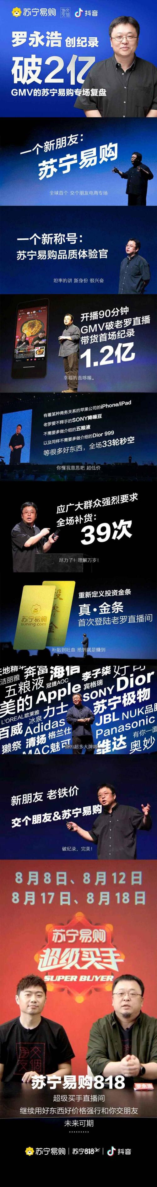 数据说话!罗永浩抖音四小时2亿成交额刷新带货纪录!