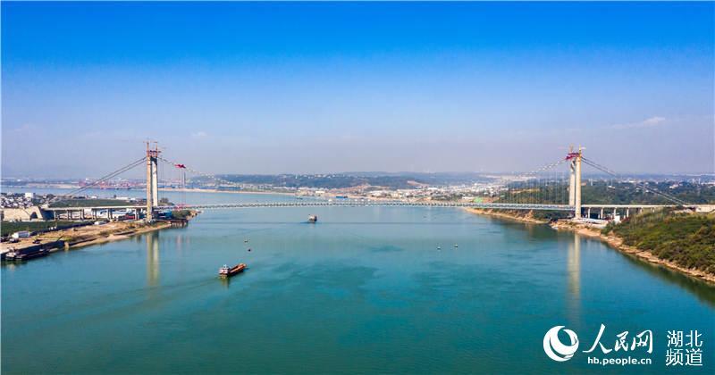 宜都长江大桥建设跑出加速度