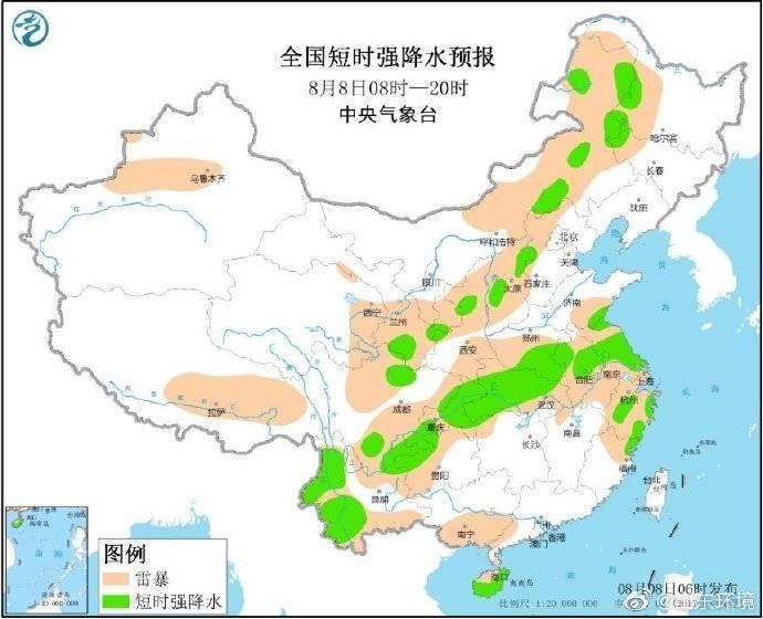 山东全省大部地区降雨已停止或减弱,鲁东南和半岛南部仍有雷暴