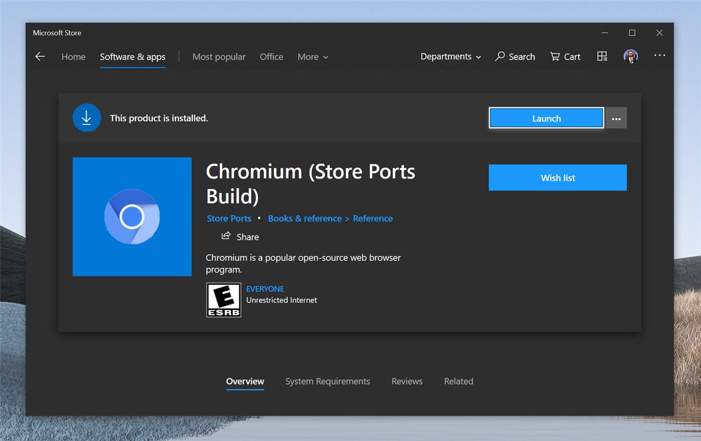 微软从商店中删除了非官方的Chromium浏览器