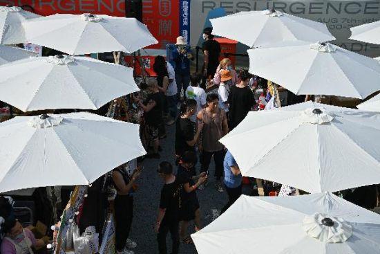 国潮书市隆福寺开市 打造北京最大规模消夏市集