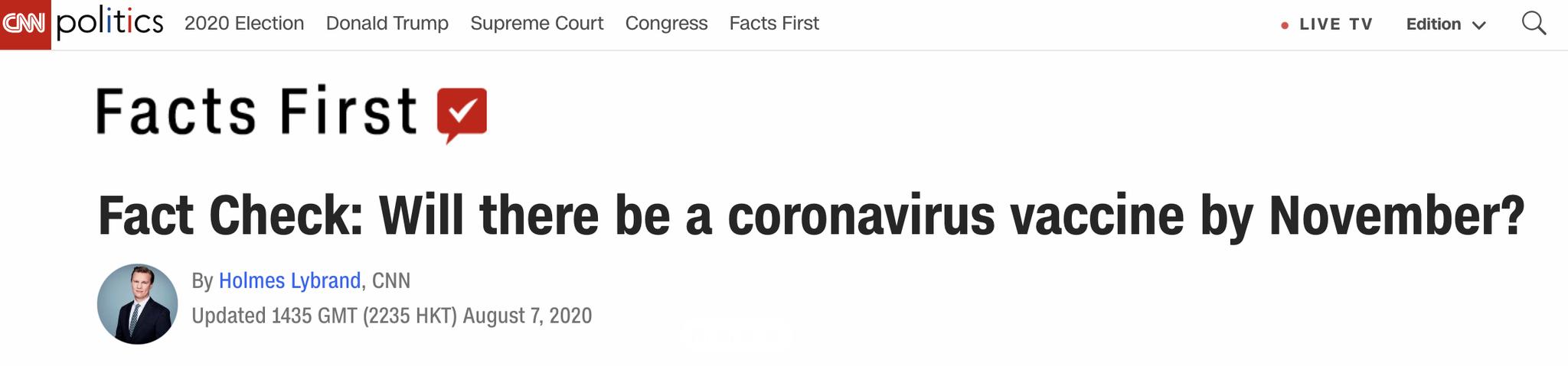 """白宫或为追求""""十月疫苗惊奇""""走审批捷径 专家警告疫苗研发不能捆绑时间表"""