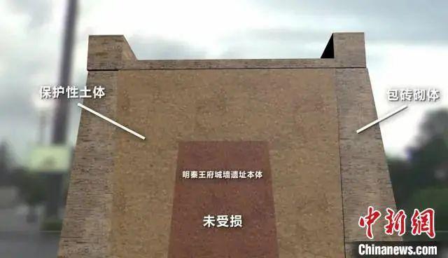 图为西安明秦王府城墙遗址修复珍爱砌体图示。资料图