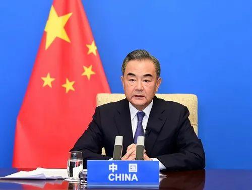 国务委员兼外长王毅以视频方式出席第十届东亚峰会外长会。图源:外交部网站