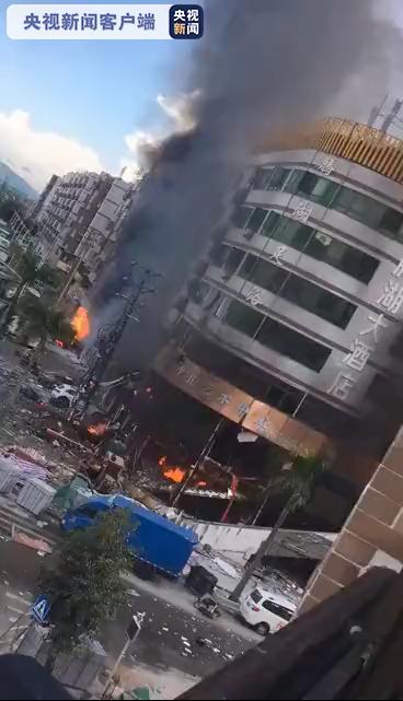爆炸现场。 央视新闻客户端 图