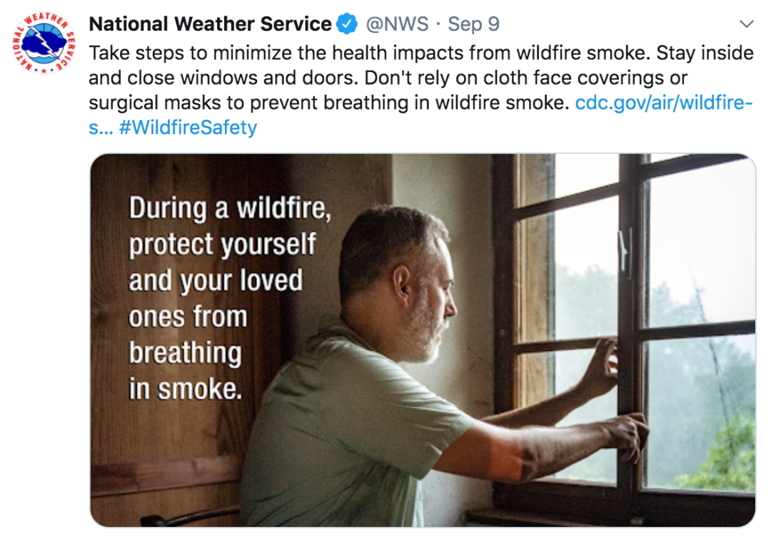 国家气象局推特截图。
