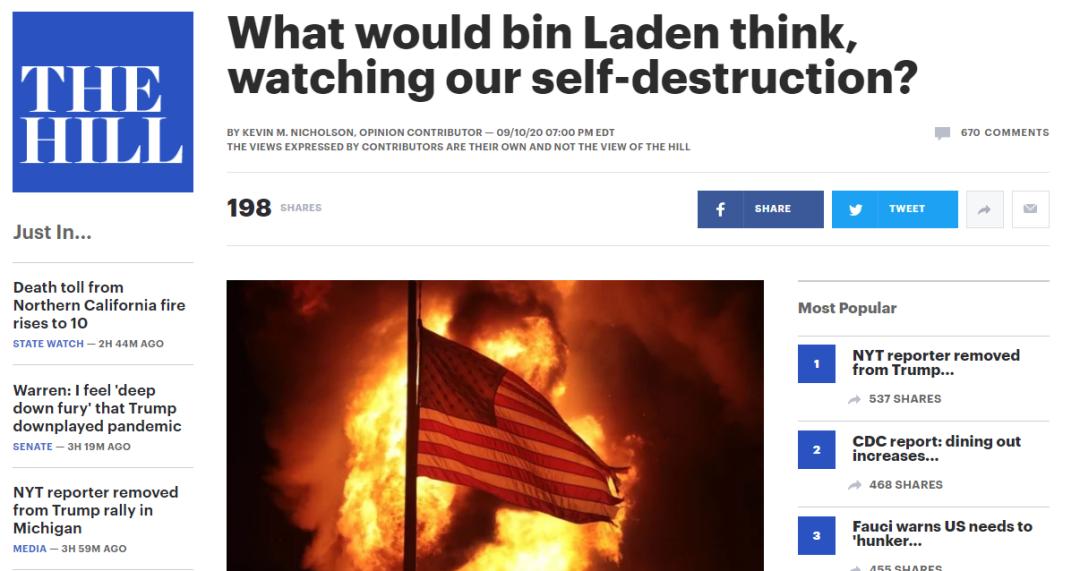 """美媒:""""如果本-拉登看到现在的美国,会怎么想?"""""""