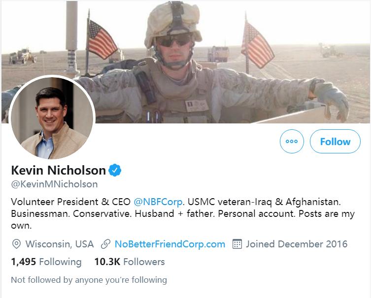 凯文·尼科森个人推特账号