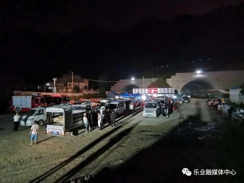 救援车辆、机械到达现场