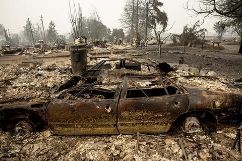 俄勒冈州火灾现场图(图:美联社)
