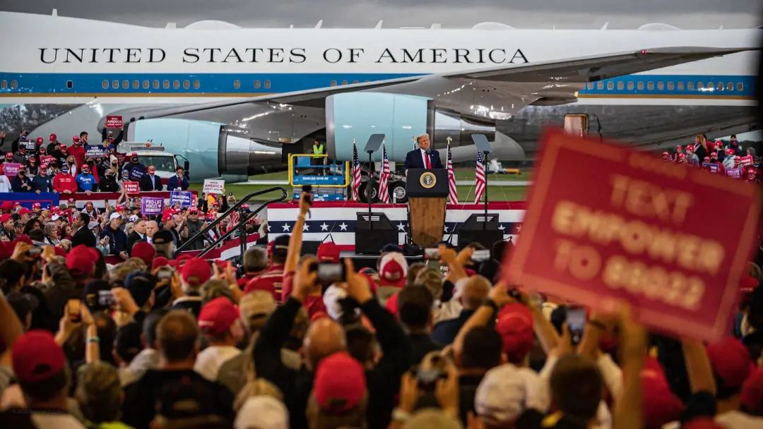 特朗普10日在密歇根州举行竞选集会。