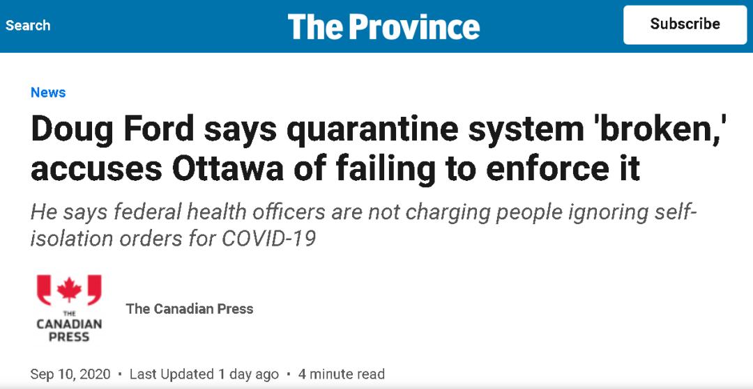 """因为疫情,加拿大的部长和省长""""吵起来了"""""""