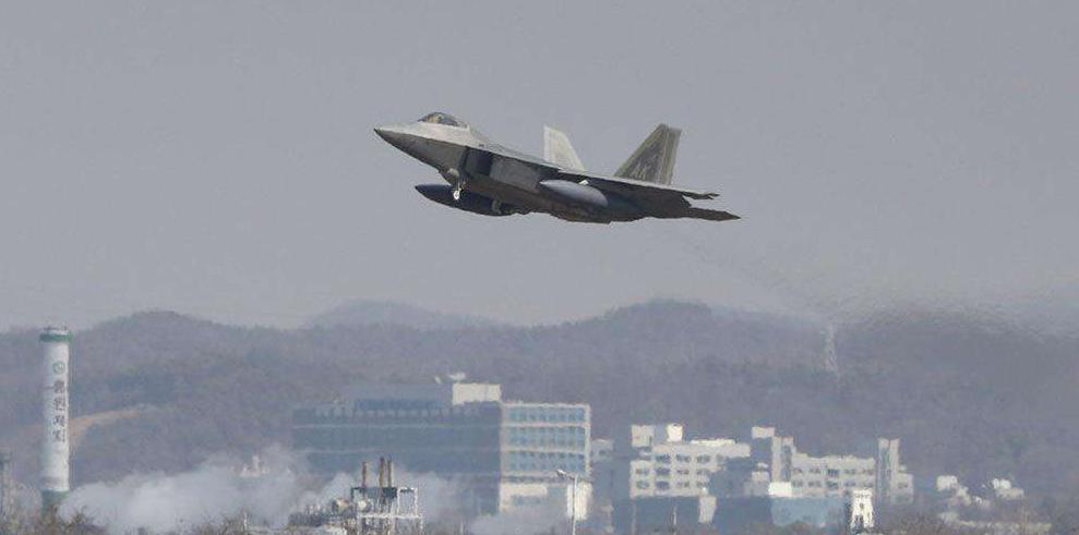 驻韩美军的F-22,对于美空来讲,驻外部队才是政治地位的基石